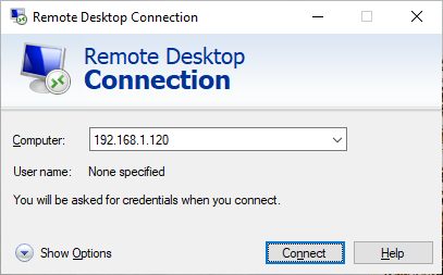 Connect to CentOS Linux using Remote Desktop in Windows 10