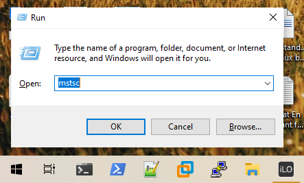 Open Windows Remote Desktop Connection