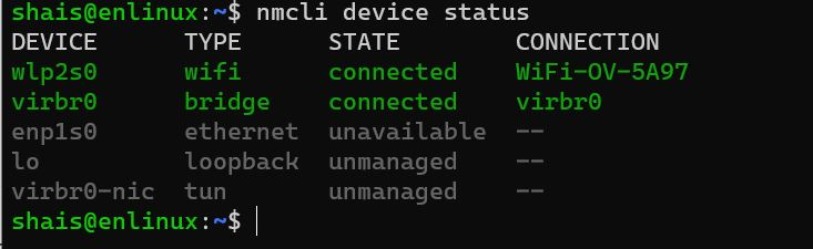 Check Network Status in Linux